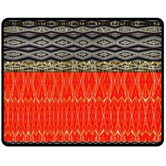 Creative Red And Black Geometric Design  Double Sided Fleece Blanket (medium)  by flipstylezdes