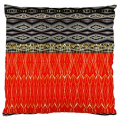 Creative Red And Black Geometric Design  Large Flano Cushion Case (one Side) by flipstylezdes