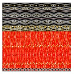 Creative Red And Black Geometric Design  Large Satin Scarf (square) by flipstylezdes