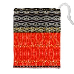Creative Red And Black Geometric Design  Drawstring Pouches (xxl) by flipstylezdes