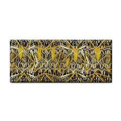 Gold And Black Geometric Designs Created By Flipstylez Designs Hand Towel