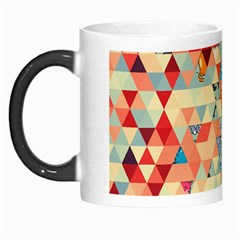 Hipster Triangles And Funny Cats Cut Pattern Morph Mugs by EDDArt