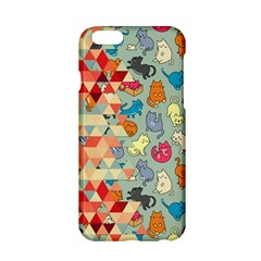 Hipster Triangles And Funny Cats Cut Pattern Apple Iphone 6/6s Hardshell Case by EDDArt