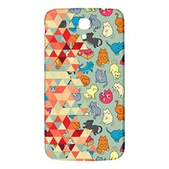 Hipster Triangles And Funny Cats Cut Pattern Samsung Galaxy Mega I9200 Hardshell Back Case