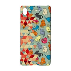 Hipster Triangles And Funny Cats Cut Pattern Sony by EDDArt