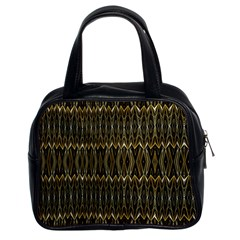 Stretched Gold And Black Design By Kiekiestrickland  Classic Handbags (2 Sides) by flipstylezdes