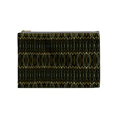 Stretched Gold And Black Design By Kiekiestrickland  Cosmetic Bag (medium)