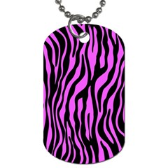 Zebra Stripes Pattern Trend Colors Black Pink Dog Tag (two Sides)