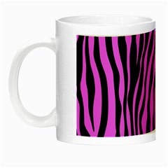 Zebra Stripes Pattern Trend Colors Black Pink Night Luminous Mugs