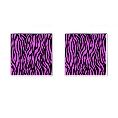 Zebra Stripes Pattern Trend Colors Black Pink Cufflinks (square)