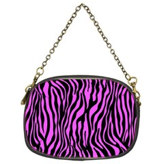 Zebra Stripes Pattern Trend Colors Black Pink Chain Purses (two Sides)  by EDDArt