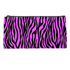 Zebra Stripes Pattern Trend Colors Black Pink Pencil Cases by EDDArt