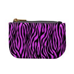 Zebra Stripes Pattern Trend Colors Black Pink Mini Coin Purses