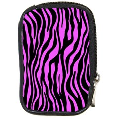 Zebra Stripes Pattern Trend Colors Black Pink Compact Camera Cases by EDDArt