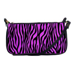 Zebra Stripes Pattern Trend Colors Black Pink Shoulder Clutch Bags