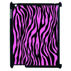Zebra Stripes Pattern Trend Colors Black Pink Apple Ipad 2 Case (black) by EDDArt