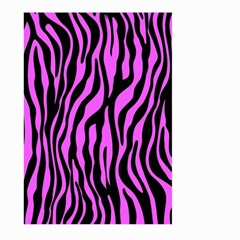Zebra Stripes Pattern Trend Colors Black Pink Large Garden Flag (two Sides) by EDDArt
