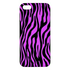 Zebra Stripes Pattern Trend Colors Black Pink Apple Iphone 5 Premium Hardshell Case