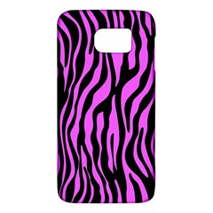 Zebra Stripes Pattern Trend Colors Black Pink Samsung Galaxy S6 Hardshell Case  by EDDArt