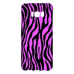 Zebra Stripes Pattern Trend Colors Black Pink Samsung Galaxy S8 Plus Hardshell Case  by EDDArt
