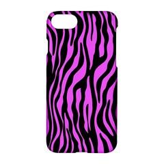 Zebra Stripes Pattern Trend Colors Black Pink Apple Iphone 8 Hardshell Case by EDDArt