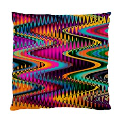 Multicolored Wave Distortion Zigzag Chevrons Standard Cushion Case (two Sides) by EDDArt