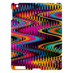 Multicolored Wave Distortion Zigzag Chevrons Apple Ipad 3/4 Hardshell Case by EDDArt