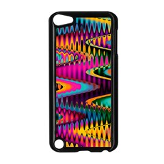 Multicolored Wave Distortion Zigzag Chevrons Apple Ipod Touch 5 Case (black) by EDDArt