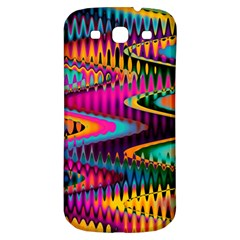 Multicolored Wave Distortion Zigzag Chevrons Samsung Galaxy S3 S Iii Classic Hardshell Back Case by EDDArt