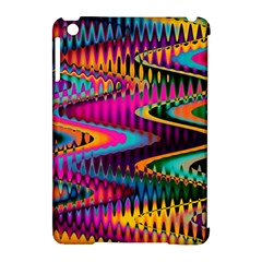 Multicolored Wave Distortion Zigzag Chevrons Apple Ipad Mini Hardshell Case (compatible With Smart Cover) by EDDArt