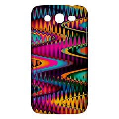 Multicolored Wave Distortion Zigzag Chevrons Samsung Galaxy Mega 5 8 I9152 Hardshell Case  by EDDArt