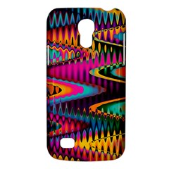 Multicolored Wave Distortion Zigzag Chevrons Samsung Galaxy S4 Mini (gt I9190) Hardshell Case  by EDDArt