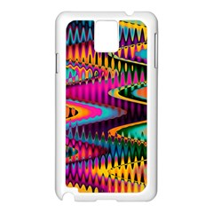 Multicolored Wave Distortion Zigzag Chevrons Samsung Galaxy Note 3 N9005 Case (white) by EDDArt