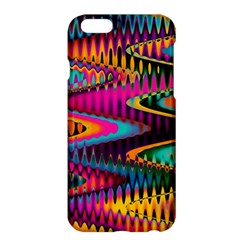 Multicolored Wave Distortion Zigzag Chevrons Apple Iphone 6 Plus/6s Plus Hardshell Case by EDDArt