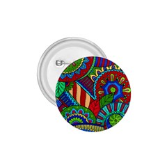 Pop Art Paisley Flowers Ornaments Multicolored 2 1 75  Buttons by EDDArt