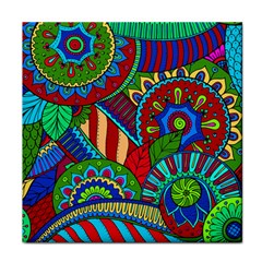 Pop Art Paisley Flowers Ornaments Multicolored 2 Face Towel by EDDArt