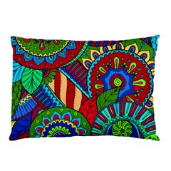 Pop Art Paisley Flowers Ornaments Multicolored 2 Pillow Case by EDDArt