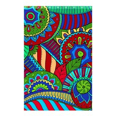 Pop Art Paisley Flowers Ornaments Multicolored 2 Shower Curtain 48  X 72  (small)