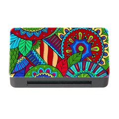 Pop Art Paisley Flowers Ornaments Multicolored 2 Memory Card Reader With Cf by EDDArt