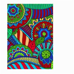 Pop Art Paisley Flowers Ornaments Multicolored 2 Large Garden Flag (two Sides) by EDDArt