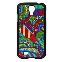 Pop Art Paisley Flowers Ornaments Multicolored 2 Samsung Galaxy S4 I9500/ I9505 Case (black) by EDDArt