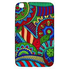 Pop Art Paisley Flowers Ornaments Multicolored 2 Samsung Galaxy Tab 3 (8 ) T3100 Hardshell Case  by EDDArt