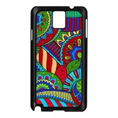 Pop Art Paisley Flowers Ornaments Multicolored 2 Samsung Galaxy Note 3 N9005 Case (black) by EDDArt