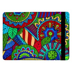 Pop Art Paisley Flowers Ornaments Multicolored 2 Samsung Galaxy Tab Pro 12 2  Flip Case