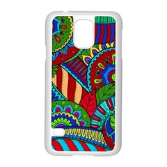 Pop Art Paisley Flowers Ornaments Multicolored 2 Samsung Galaxy S5 Case (white) by EDDArt