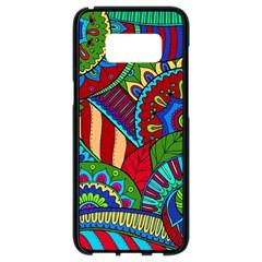 Pop Art Paisley Flowers Ornaments Multicolored 2 Samsung Galaxy S8 Black Seamless Case