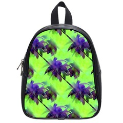 Palm Trees Lime In The Coconut School Bag (small)