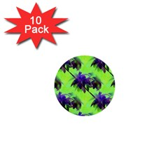 Palm Trees Lime In The Coconut 1  Mini Buttons (10 Pack)