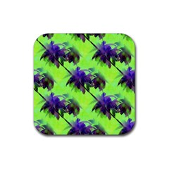 Palm Trees Lime In The Coconut Rubber Coaster (square)