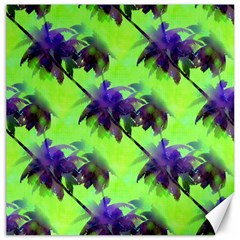 Palm Trees Lime In The Coconut Canvas 16  X 16   by CrypticFragmentsColors